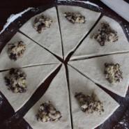 Ren forkælelse – marcipanhorn med banan og chokolade