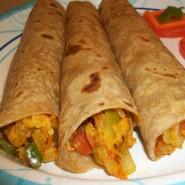 Indiske vegetar wraps