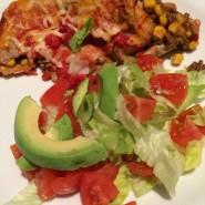 Okse-bønne tortillas med frisk salat