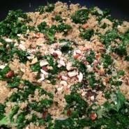 Lun quinoa-grønkål salat